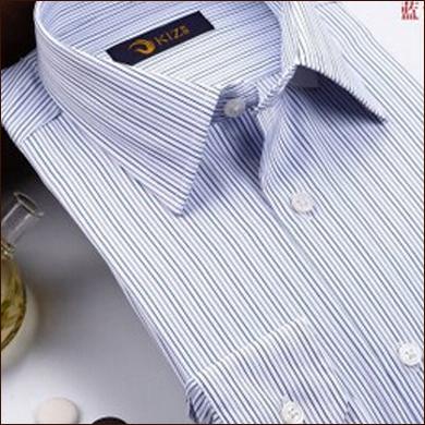 蓝白色条纹男式衬衫
