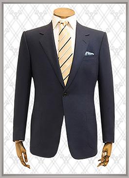 <b>藏青色男士西装一粒扣西装款式图</b>