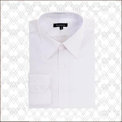 男式白色衬衫