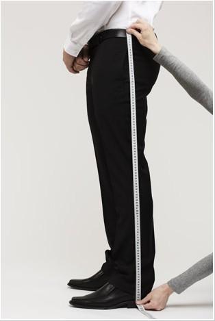 西裤测量示意图