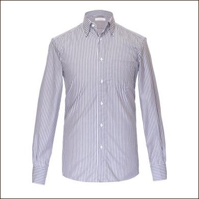 白色条纹男士衬衫款式图