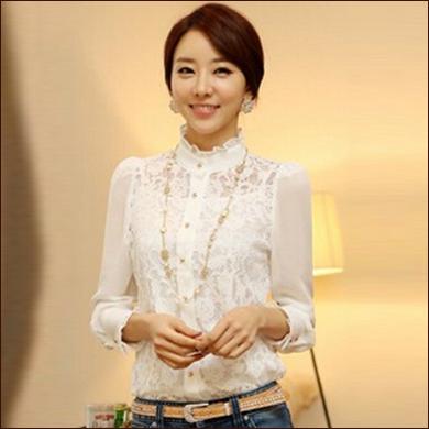 白色女式衬衫