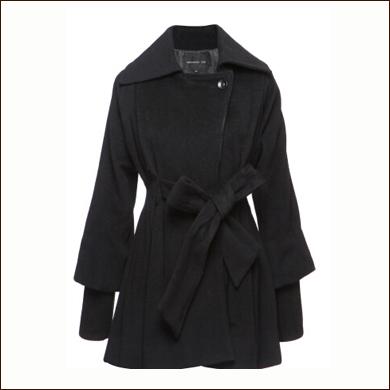 灰色长款女式大衣